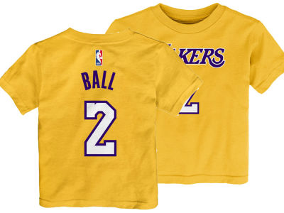 Los Angeles Lakers Lonzo Ball Nike NBA Kids Replica Name and Number T-Shirt