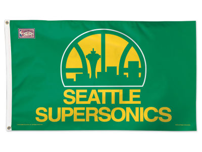 Seattle SuperSonics 3x5 Deluxe Flag