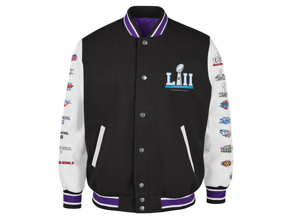 96ad4d808 Super Bowl LII G-III Sports NFL Men s Super Bowl LII Game Ball Varsity  Jacket
