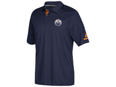 Edmonton Oilers adidas NHL Men's Authentic Pro Locker Room Polo