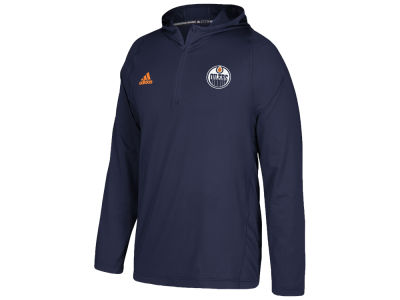 Edmonton Oilers adidas NHL Men's Authentic Training Hooded Pullover