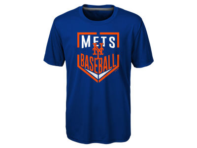 New York Mets MLB Youth Run Scored Poly T-Shirt