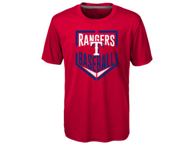 Texas Rangers MLB Youth Run Scored Poly T-Shirt