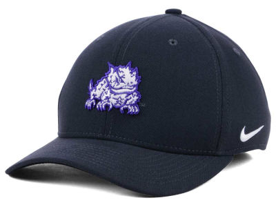 Texas Christian Horned Frogs Nike NCAA Anthracite Classic Swoosh Cap