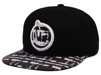 YUMS Black and White Tie Die Snapback Cap