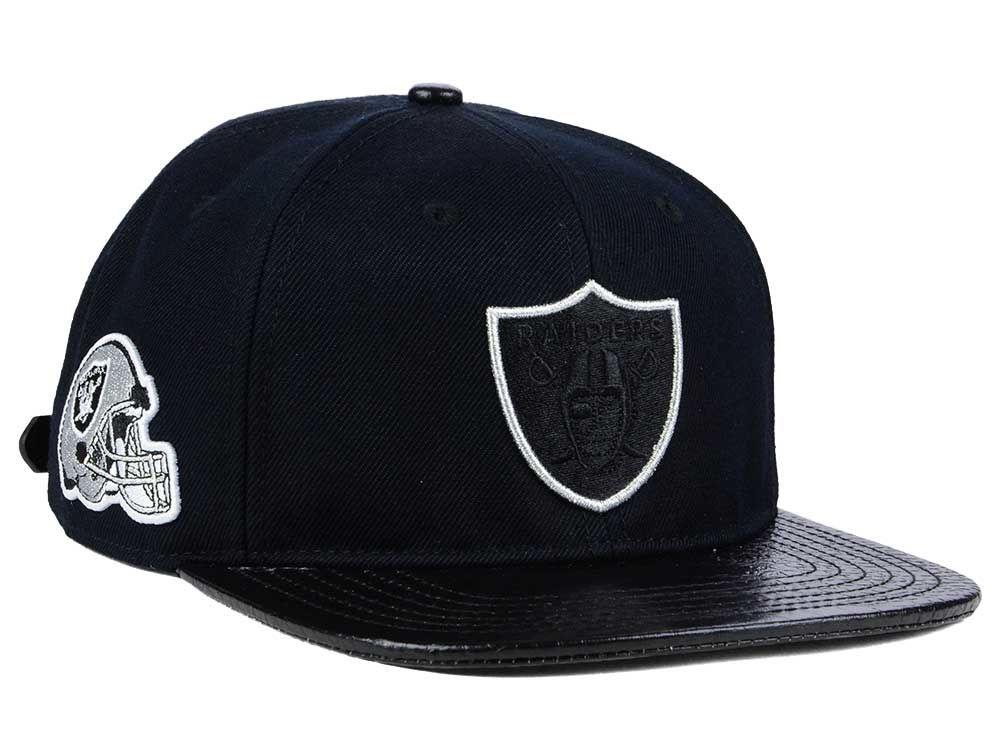 promo code 8188e 75aef new zealand oakland raiders pro standard nfl team color black strapback cap  4ac64 76230