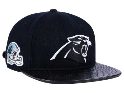 Carolina Panthers Pro Standard NFL Black and White Strapback Cap