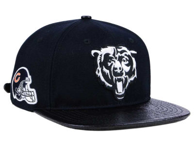 Chicago Bears Pro Standard NFL Black and White Strapback Cap