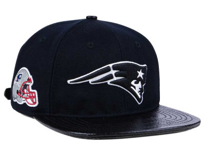 New England Patriots Pro Standard NFL Black and White Strapback Cap