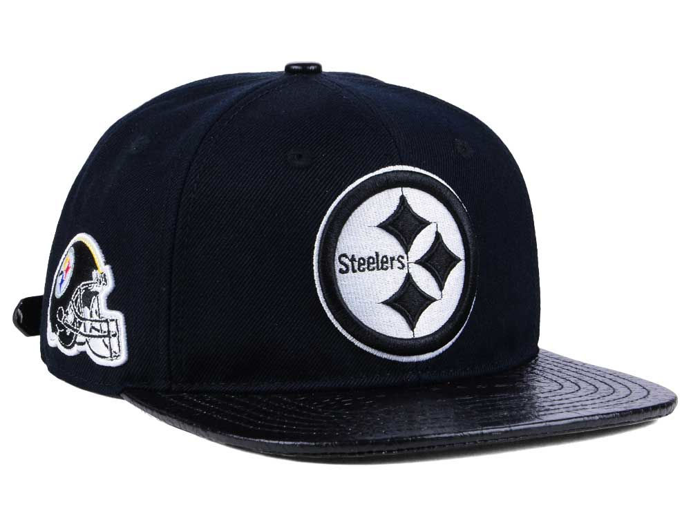 0a657cb4 buy pittsburgh steelers pro standard nfl black and white strapback cap  a2c2d 79615
