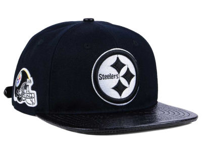 Pittsburgh Steelers Pro Standard NFL Black and White Strapback Cap