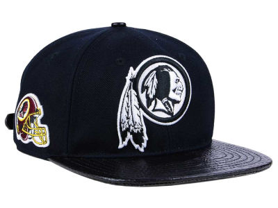 Washington Redskins Pro Standard NFL Black and White Strapback Cap
