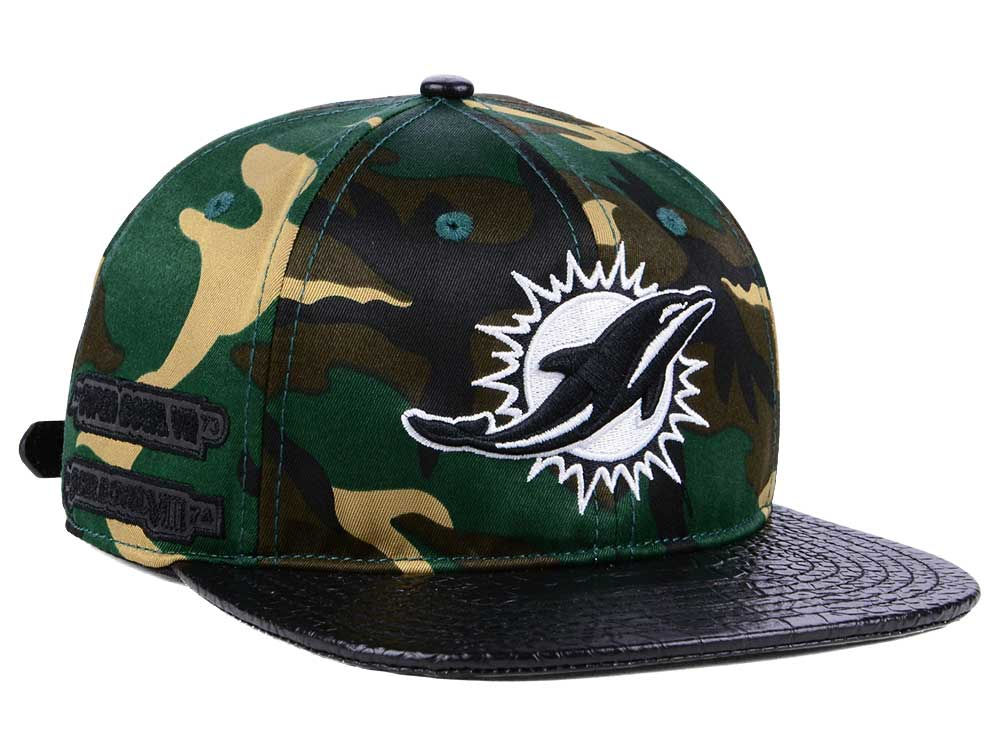 new styles 8f9af 071c5 new zealand miami dolphins pro standard nfl woodland strapback cap b894a  2ce2b
