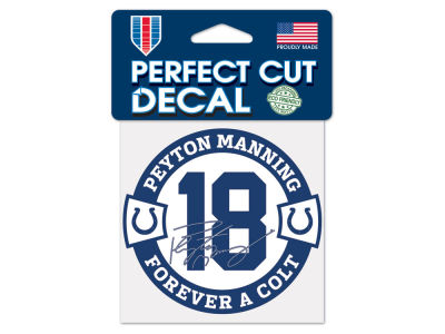 Indianapolis Colts Peyton Manning NFL Retirement Decal