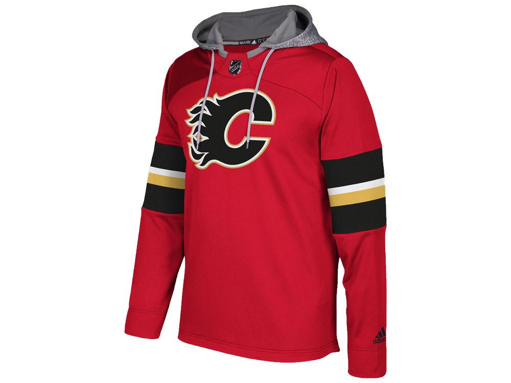 Calgary Flames adidas NHL Men s Platinum Jersey Hoodie  de18bbc0a