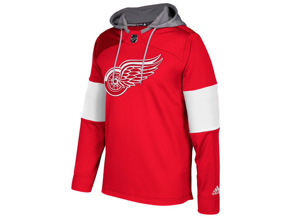 1937f891a Detroit Red Wings adidas NHL Men s Platinum Jersey Hoodie