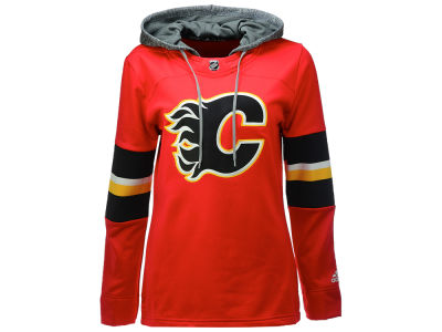 Calgary Flames adidas NHL Women's Jersey Crewdie Pullover Hoodie