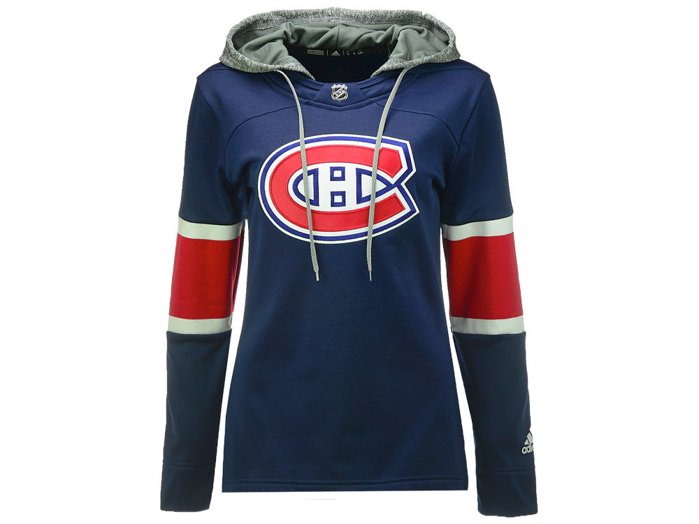 Montreal Canadiens adidas NHL Women s Jersey Crewdie Pullover Hoodie ... 46004cb12