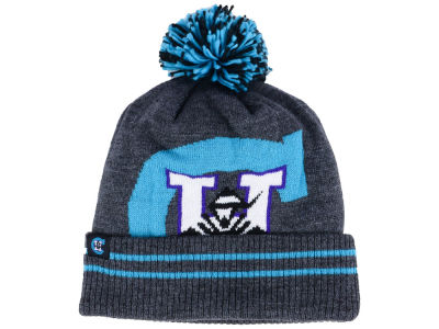 Charlotte Hornets Mitchell & Ness Black Heather Hi-5 Pom Knit