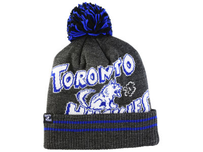 Toronto Huskies Mitchell & Ness Black Heather Hi-5 Pom Knit