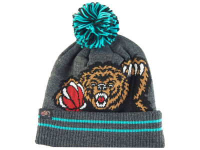 Vancouver Grizzlies Mitchell & Ness Black Heather Hi-5 Pom Knit
