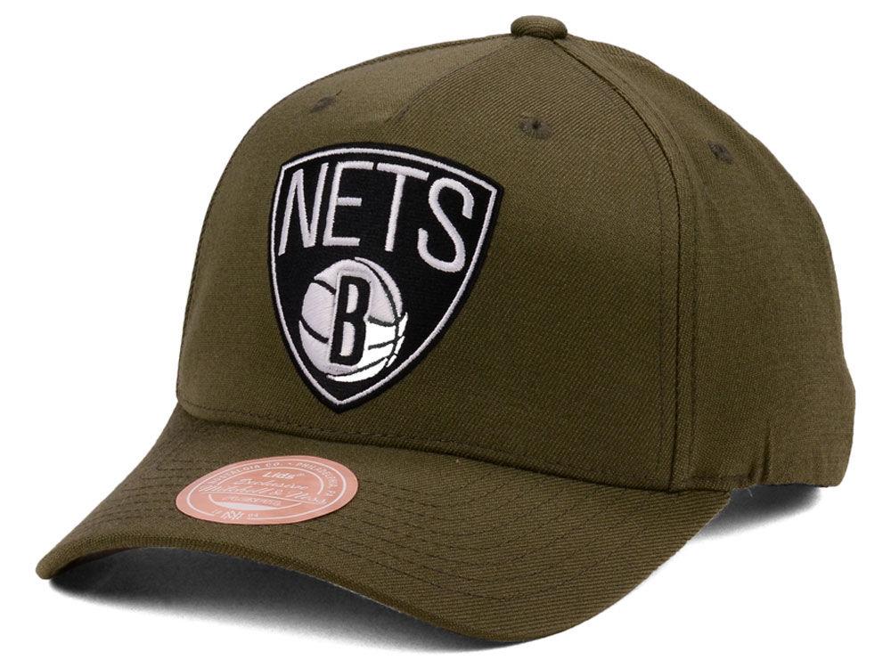 2c553decba8 Brooklyn Nets Mitchell   Ness NBA X Flexfit 110 Snapback Cap