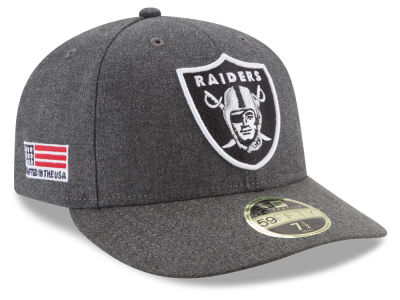 Oakland Raiders New Era NFL Crafted In America Low Profile 59FIFTY Cap