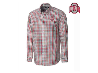 Ohio State Buckeyes Cutter & Buck NCAA Men's Gilman Plaid Button Down
