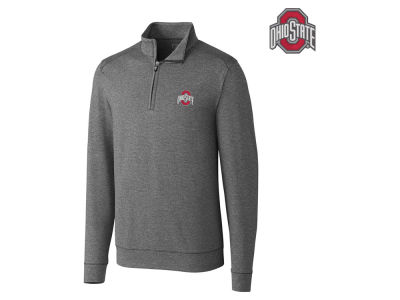 Ohio State Buckeyes Cutter & Buck NCAA Men's Drytec Shoreline Half Zip Pullover