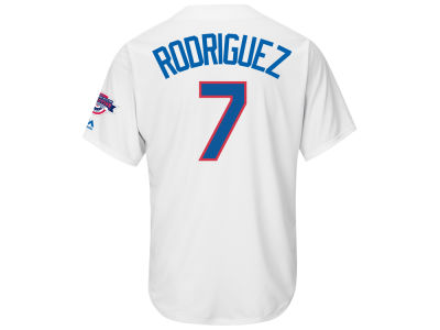 Texas Rangers Ivan Rodriguez Majestic MLB Men's Hall Of Fame Induction Patch Cool Base Jersey