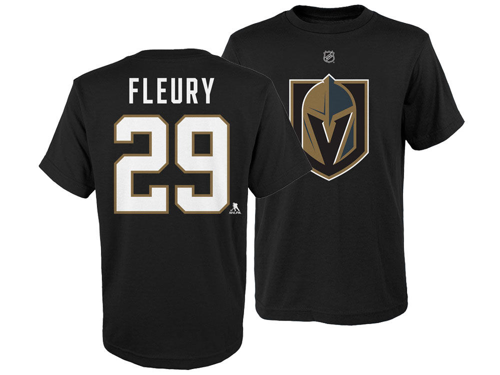 8be3e5fed Vegas Golden Knights Marc-Andre Fleury Outerstuff NHL Youth Player T-Shirt