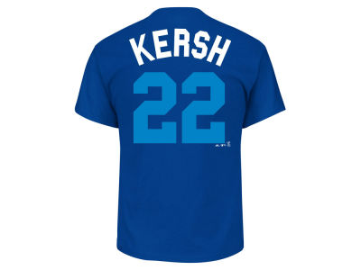 Los Angeles Dodgers Clayton Kershaw Majestic MLB Men's Players Weekend Name & Number T-Shirt