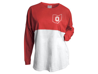 Ohio State Buckeyes J America NCAA Women's Colorblocked Gameday Jersey Long Sleeve T-Shirt