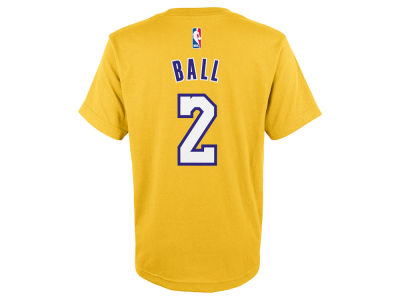 Los Angeles Lakers Lonzo Ball Outerstuff NBA Youth Player T-Shirt