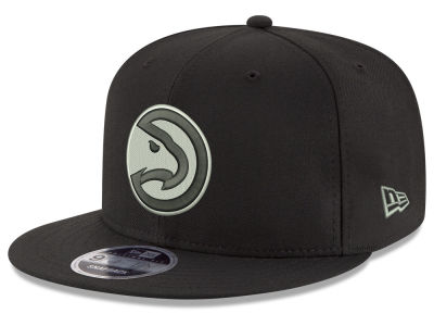 Atlanta Hawks New Era NBA Black on Shine 9FIFTY Snapback Cap