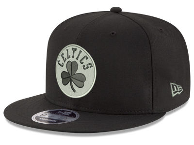 Boston Celtics New Era NBA Black on Shine 9FIFTY Snapback Cap