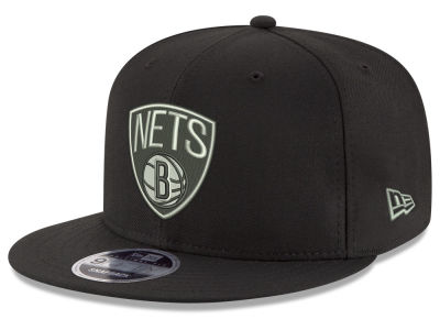Brooklyn Nets New Era NBA Black on Shine 9FIFTY Snapback Cap