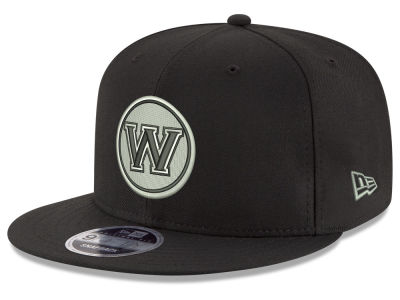 Golden State Warriors New Era NBA Black on Shine 9FIFTY Snapback Cap