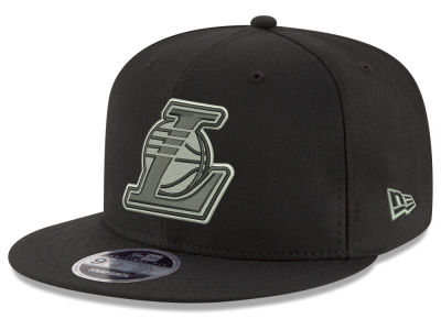 Los Angeles Lakers New Era NBA Black on Shine 9FIFTY Snapback Cap