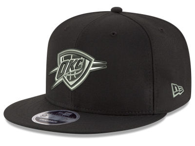 Oklahoma City Thunder New Era NBA Black on Shine 9FIFTY Snapback Cap