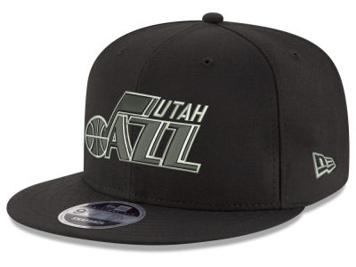 Utah Jazz New Era NBA Black on Shine 9FIFTY Snapback Cap