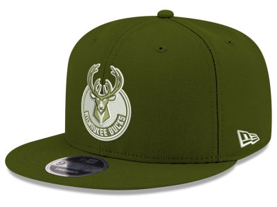 Milwaukee Bucks New Era NBA Fall Dubs 9FIFTY Snapback Cap