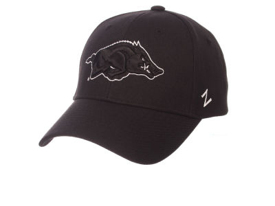 Arkansas Razorbacks Zephyr NCAA Black & White Competitor Cap