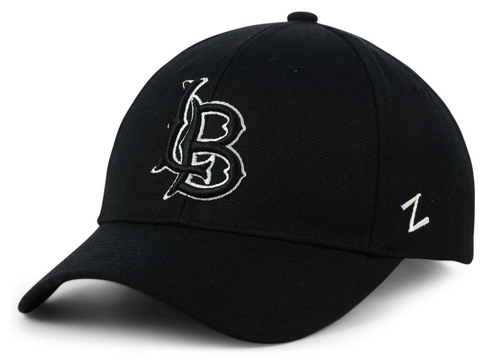 Long Beach State 49ers Zephyr Ncaa Black White Compeor Cap