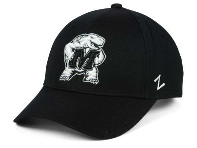 Maryland Terrapins Zephyr NCAA Black & White Competitor Cap