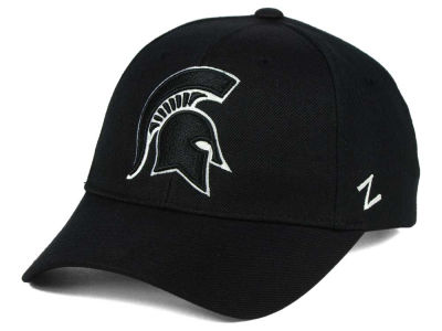 Michigan State Spartans Zephyr NCAA Black & White Competitor Cap