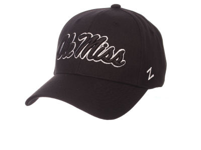 Ole Miss Rebels Zephyr NCAA Black & White Competitor Cap