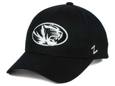 Missouri Tigers Zephyr NCAA Black & White Competitor Cap