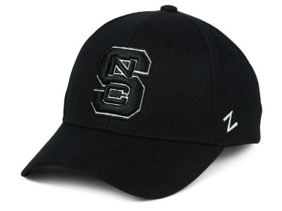 North Carolina State Wolfpack Zephyr NCAA Black & White Competitor Cap