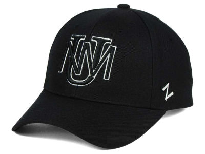 New Mexico Lobos Zephyr NCAA Black & White Competitor Cap